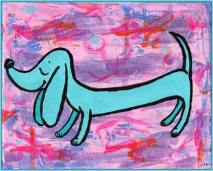 Blue dog by JennyJump