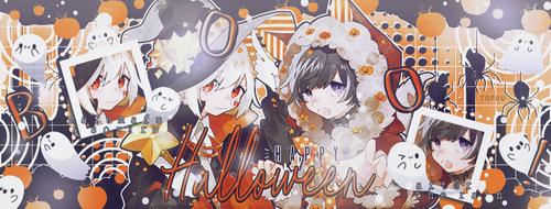 Mafumafu y Soraru. Portada Halloween. by M-Haruse