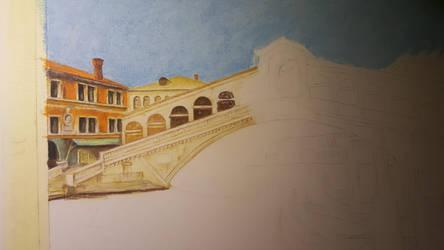 Rialto Bridge Venice WIP 2 by MariaIla