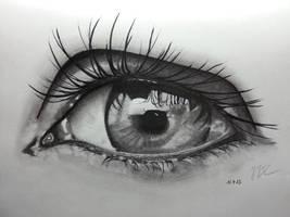 Pencil Drawing ~ Eye 2 by ozastark