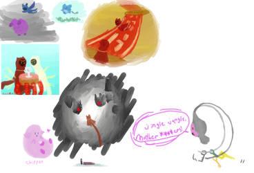 Another doodledump thing by HikariOkami