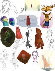 Some doodles by HikariOkami