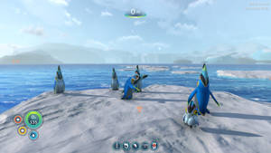 Alien penguins on ice by Cutiesaurs