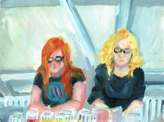 Painting Karin and Joyce by Pii-star