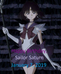 Happy Birthday, Sailor Saturn [2019] by Pikachu-Train