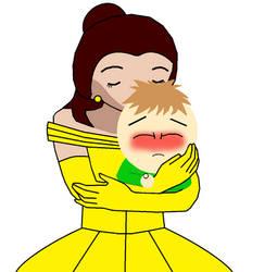 Belle Kissing Sean Coover by Pikachu-Train