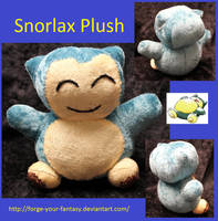 Snorlax Pokedoll Plush by Forge-Your-Fantasy