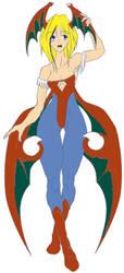 Kim Cosplaying Lilith Colored by jeimuzu1984
