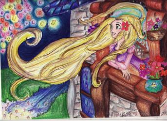 Rapunzel Dreaming by AnnieIsabel
