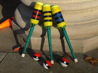 Juggling Pokeballs and Juggling Clubs by SamuraiZC