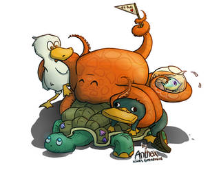 Cute animals by Greatnini
