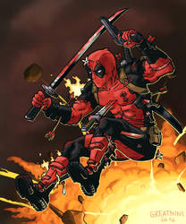 Deadpool by Greatnini