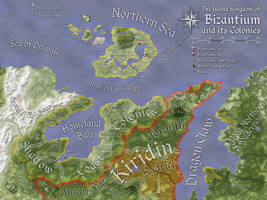 Bizantium and its Colonies Map (Color) by Will-Erwin