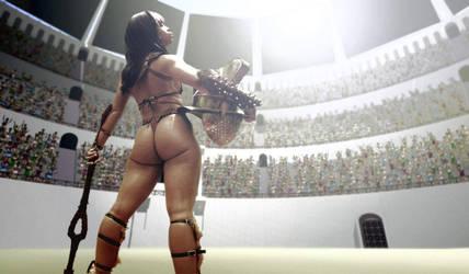 Gladiatrix Qamarah by julianapostata