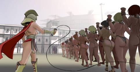slavegirls to the gladiatrix school by julianapostata