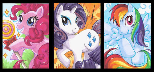 My little Pony ACEO's by StardustLotus