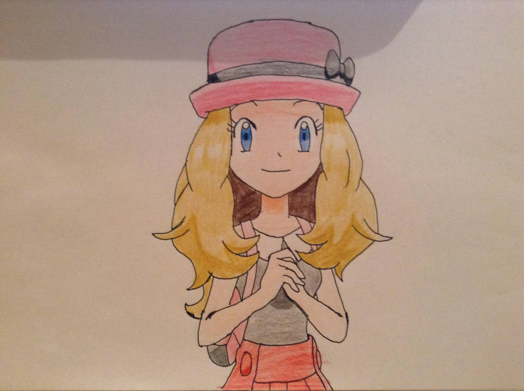 Drawing Serena from (POKEMON X&Y) - YouTube