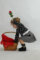Toddler with basket 2 by stockmichelle
