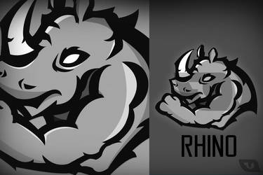 Rhino - Mascotte - Illustration by SusjaDesign