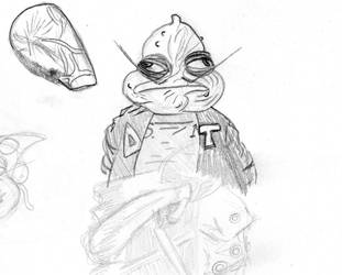 Squidman Sketch by solomonfaust