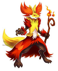 Delphox [Alternate design] by Haychel