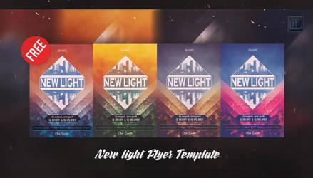New Light Flyer Template FREE by nidzoart