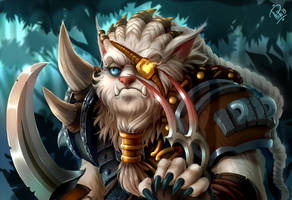 League of Legends : Grumpy Rengar! by Philiera