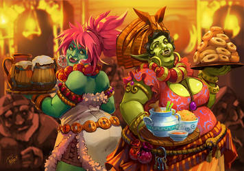 Orks tavern by Philiera