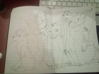 SilverSarcasmic Fanart (sketch) by NightShadeLG