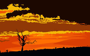 Vector Background - African Sunset by Firehart95