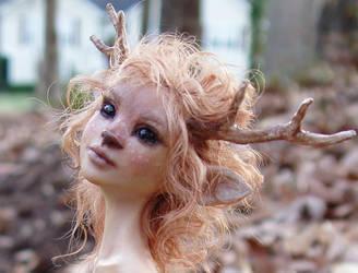 FAWN GIRL sculpture closeup by pixiwillow