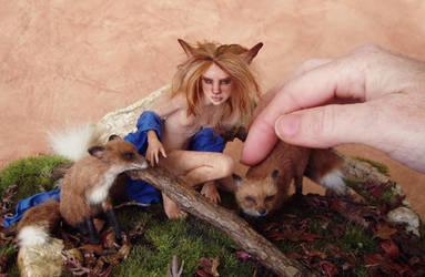 Little Foxes   size comparison by pixiwillow