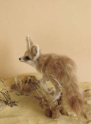 FURRED SCULPTURE - fennec fox by pixiwillow