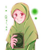 I love Al-qur'an by Midorizou