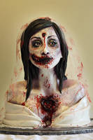 Zombie Bride Cake by ohnoono