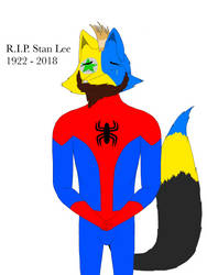 Jake cries a tear for Stan Lee by trainnerdFromDenmark