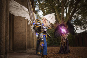 Kayle and Morgana Cosplay - League of Legends by KimontheRocks