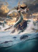 Calypso - Goddess of the Sea - Mermaid by KimontheRocks