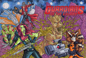 Guardians of the Galaxy Sketch Cover by ibroussardart