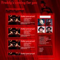Freddy Krugar web template by JillySB