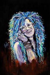 Janis Joplin by o0gie