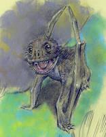 Anurognathus by dewlap
