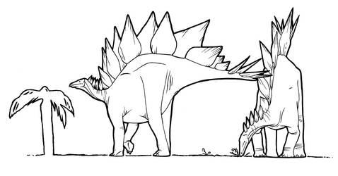 Stegosaurus by dewlap
