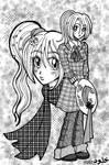 Girls Manga Tones by kholoodfantasy