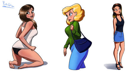 Girls 3 by Bagam-The-Animator