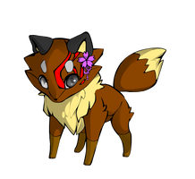 Sonya Eve as a fox! (not adoptable) by pokemongirl223