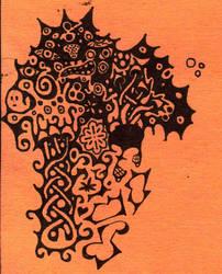 Abstract Mushroom by strangledbyart