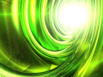 Mean Green Glass Thing by strangledbyart