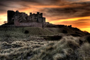 Sunset in Bamburgh by eyedesign
