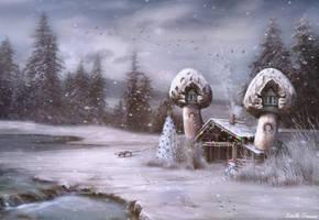 Snow 'Shroom At The Inn by needcaffine